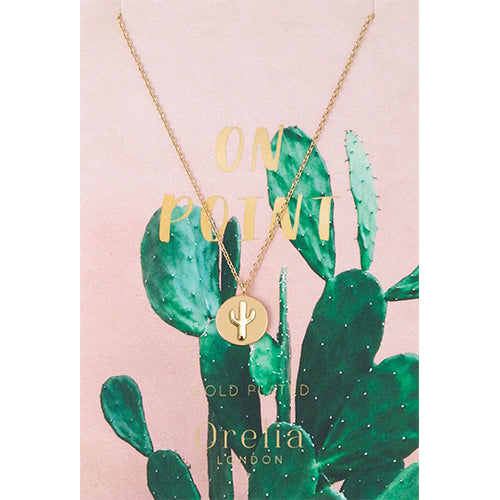 Orelia 'On Point' Cactus Necklace