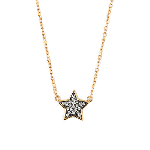 Orelia LUXE Crystal Star Charm Necklace