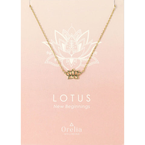 Orelia Lotus Charm Necklace