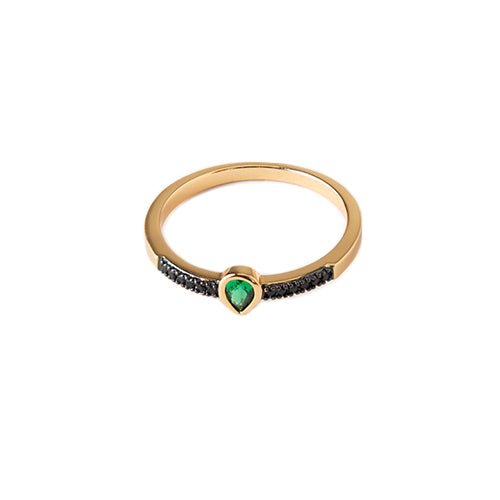 Orelia Teardrop Emerald Jewel Ring