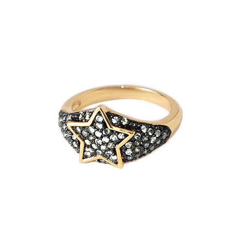 Orelia LUXE Star Crystal Pave Ring