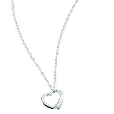 Sterling Silver - Heart Necklace - Plain Silver Necklaces - Silverado