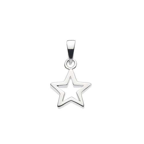 Sterling Silver - Cut-Out Star Pendant - Silver Earrings - Silverado
