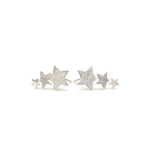 Pernille Corydon Silver Shooting Star Earrings