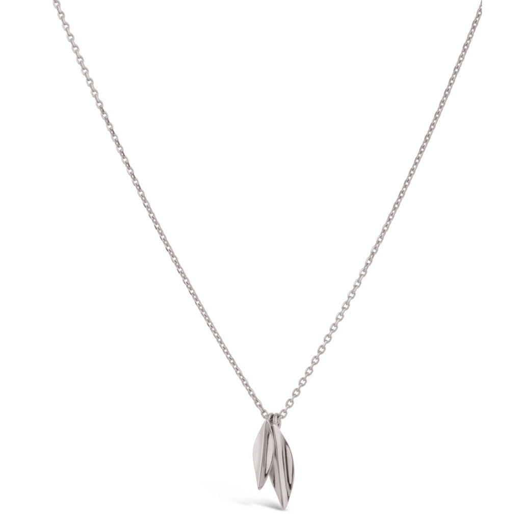 Dinny Hall - Dinny Hall Small Silver Lotus Double Petal Necklace - Designer Necklaces - Silverado
