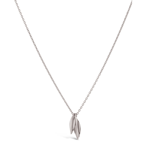 Dinny Hall - Dinny Hall Small Silver Double Lotus Petal Necklace - Designer Necklaces - Silverado