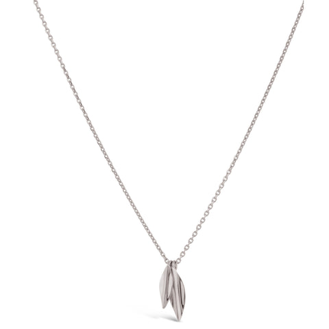 Dinny Hall Small Silver Double Lotus Petal Necklace