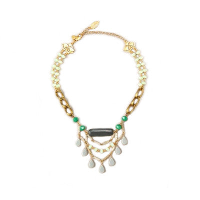 David Aubrey Grey Chandelier Necklace