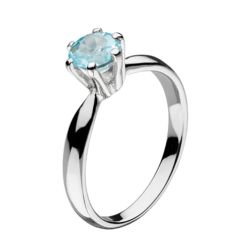Sterling Silver - Blue Topaz Ring - Silver Rings - Silverado