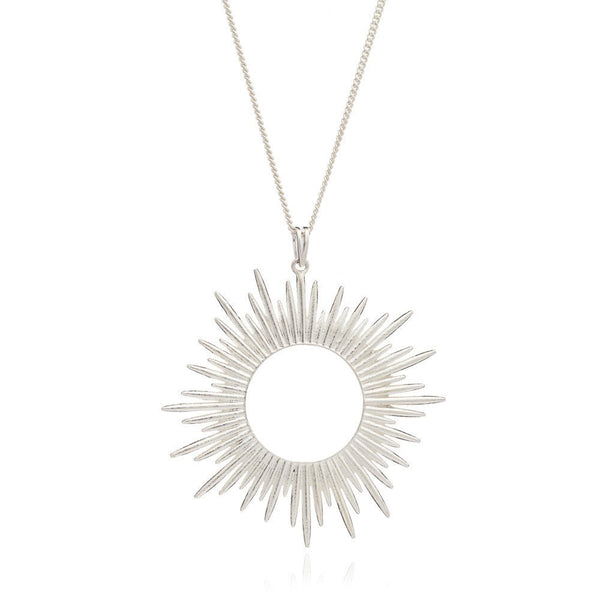 Rachel Jackson - Rachel Jackson Silver Sunrays Necklace - Designer Necklaces - Silverado