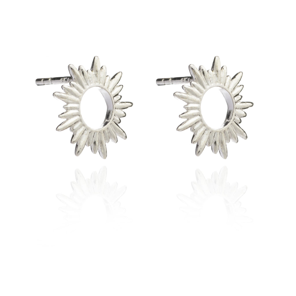 Rachel Jackson Silver Sunrays Studs Rachel Jackson Designer Earrings Silverado Jewellery