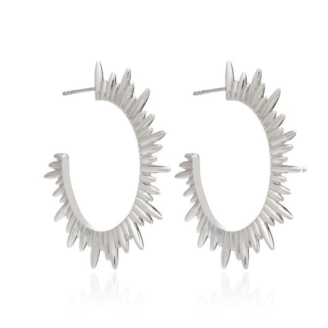 Rachel Jackson Silver Electric Goddess Hoops