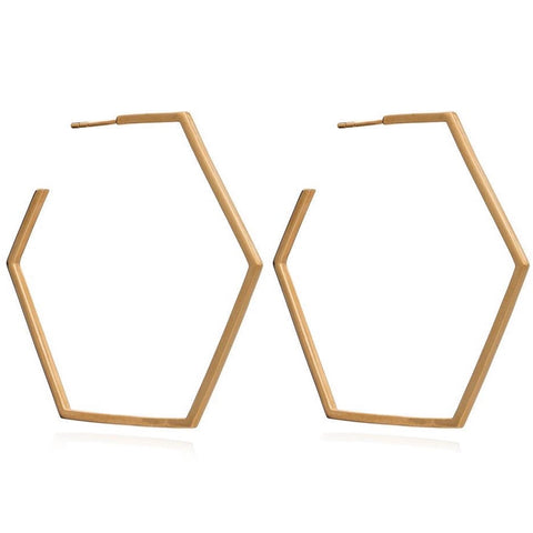 Rachel Jackson Oversized Hexagon Hoops