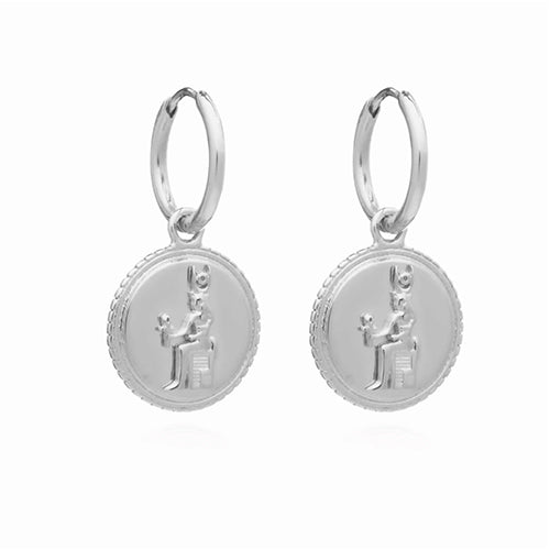 Rachel Jackson Queen of Revelry Mini Silver Hoops