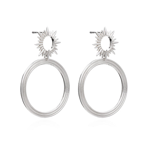 Rachel Jackson Silver Electric Goddess Earrings