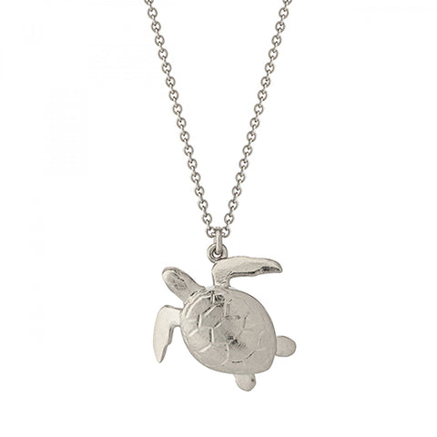 Alex Monroe Silver Sea Turtle Necklace