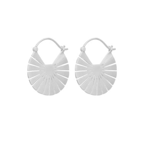 Pernille Corydon Silver Flare Earrings