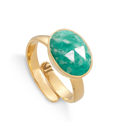 SVP Jewellery Amazonite Atomic Maxi Ring