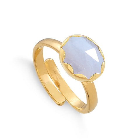 SVP Jewellery Blue Lace Agate Rapture Ring