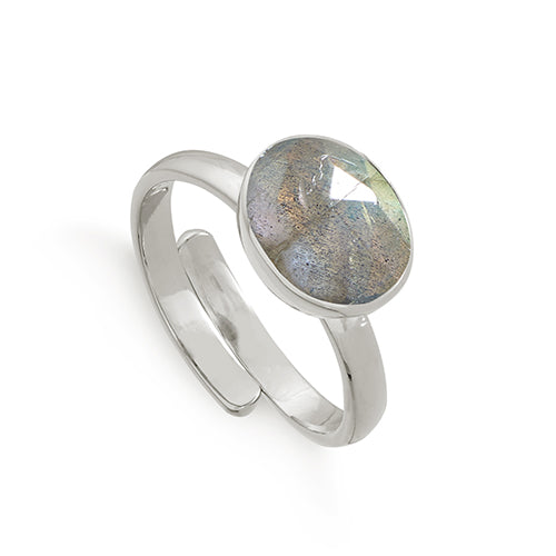 SVP Jewellery Silver and Labradorite Atomic Midi Ring