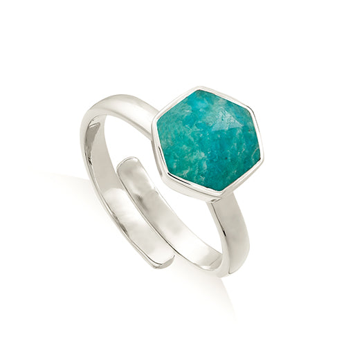 SVP Jewellery 'Firestarter' Silver and Amazonite Ring