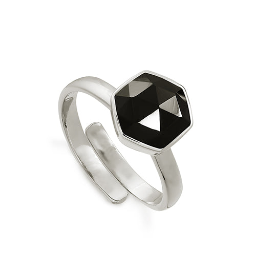 SVP Jewellery 'Firestarter' Silver and Black Spinel Ring