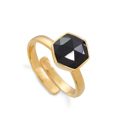 SVP Jewellery 'Firestarter' Black Spinel Ring
