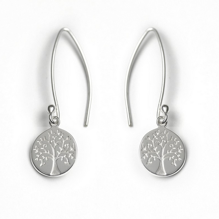 Tales from the Earth - Tales From The Earth Tree of Life Earrings - Designer Earrings - Silverado