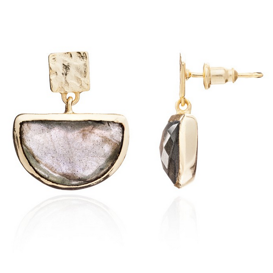 Azuni - Azuni Labradorite Skylar Earrings - Designer Earrings - Silverado