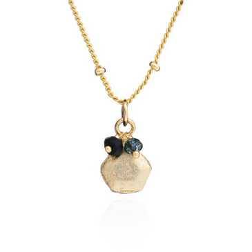 Azuni Alaya Necklace - Onyx and Iolite