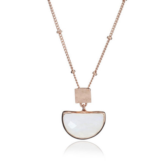 Azuni - Azuni Rose Gold Skylar Necklace - Designer Necklaces - Silverado