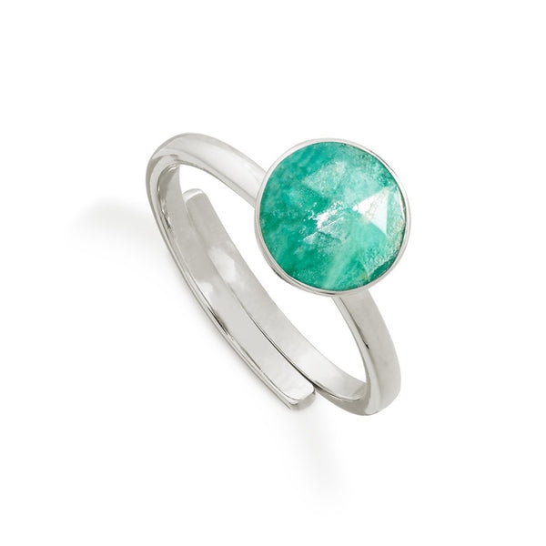 SVP Jewellery - SVP Jewellery Amazonite and Silver Starman Ring - Designer Rings - Silverado