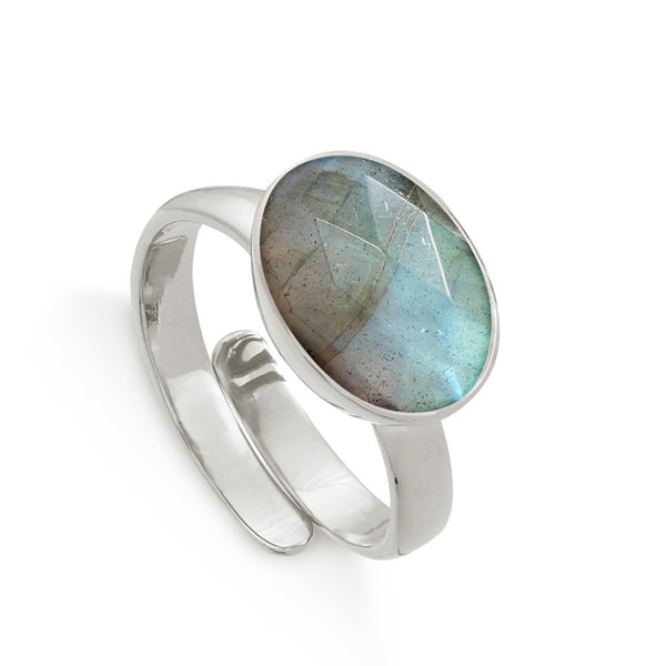 SVP Jewellery Silver and Labradorite Maxi Atomic Ring