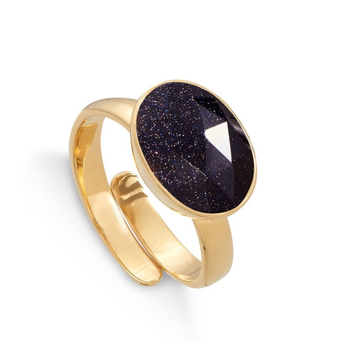 SVP Jewellery Blue Sunstone Maxi Atomic Ring