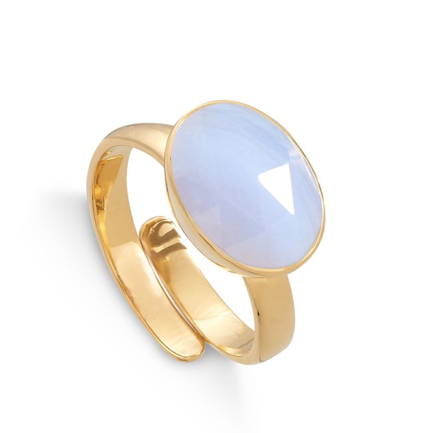 SVP Jewellery Blue Lace Agate Maxi Atomic Ring