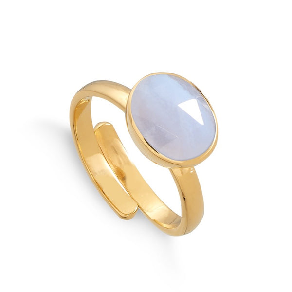 SVP Jewellery Blue Lace Agate Midi Atomic Ring