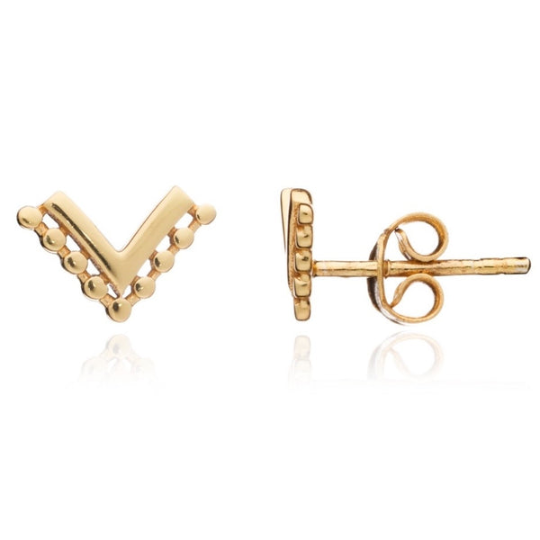 Azuni - Azuni Etrusca Wave Studs - Designer Earrings - Silverado