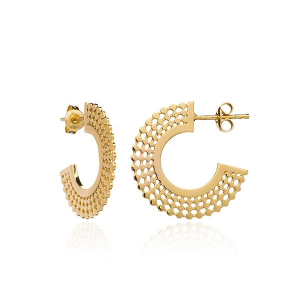 Azuni - Azuni Etrusca Hoops - Designer Earrings - Silverado