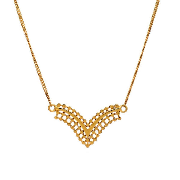 Azuni - Azuni Etrusca Chevron Necklace - Designer Necklaces - Silverado