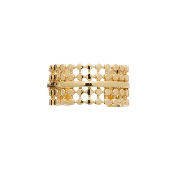 Azuni - Azuni Etrusca Beaded Detail Ring - Designer Rings - Silverado