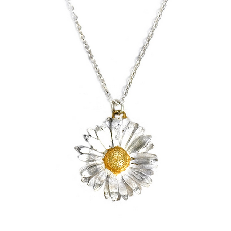 Alex Monroe - Alex Monroe Daisy Necklace - Designer Necklaces - Silverado
