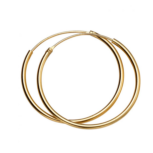 30mm Gold Plated Hoop