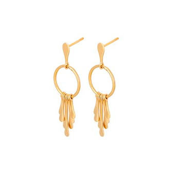 Pernille Corydon - Pernille Corydon Waterfall Earrings - Designer Earrings - Silverado