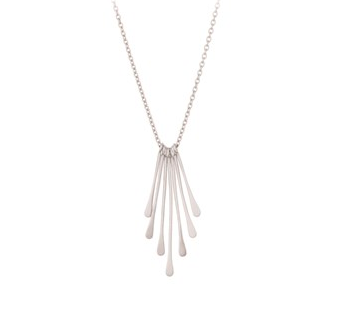 Pernille Corydon Silver Waterfall Necklace