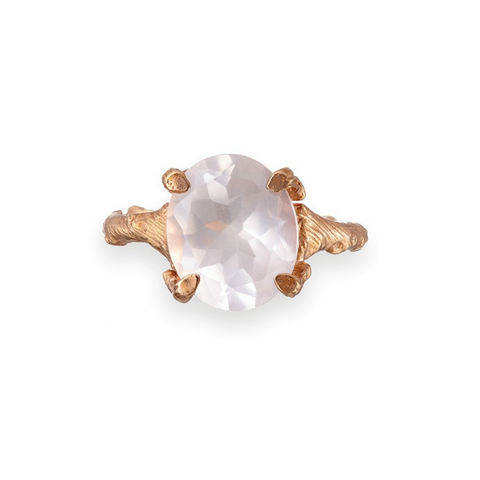Chupi 'Drop In The Wild' Rose Quartz Ring