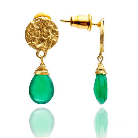 Azuni Green Onyx Drop Earrings