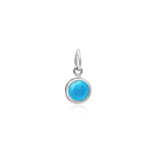 Rodgers and Rodgers Silver Birthstone Pendant - December