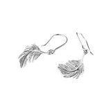 Alex Monroe - Alex Monroe Silver Little Feather Hook Earrings - Designer Earrings - Silverado