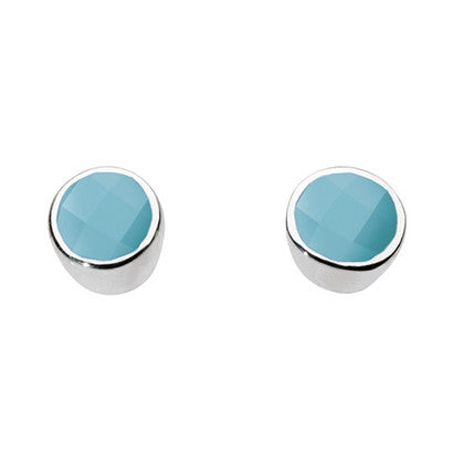 Sterling Silver - Turquoise Studs - Silver Earrings - Silverado