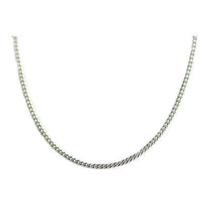Thin Silver Curb Chain